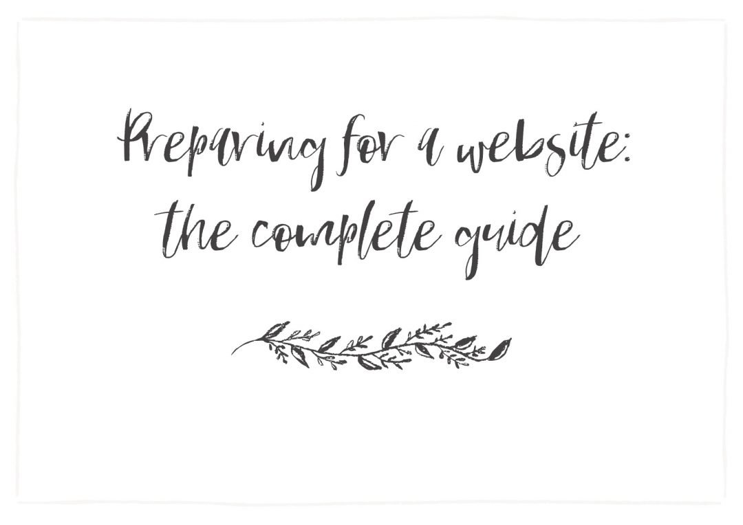 Website prepration guide