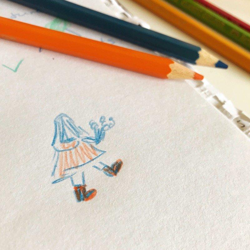 mini sketch of girl