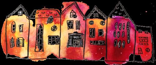 Houses artwork Rhiannon Adler