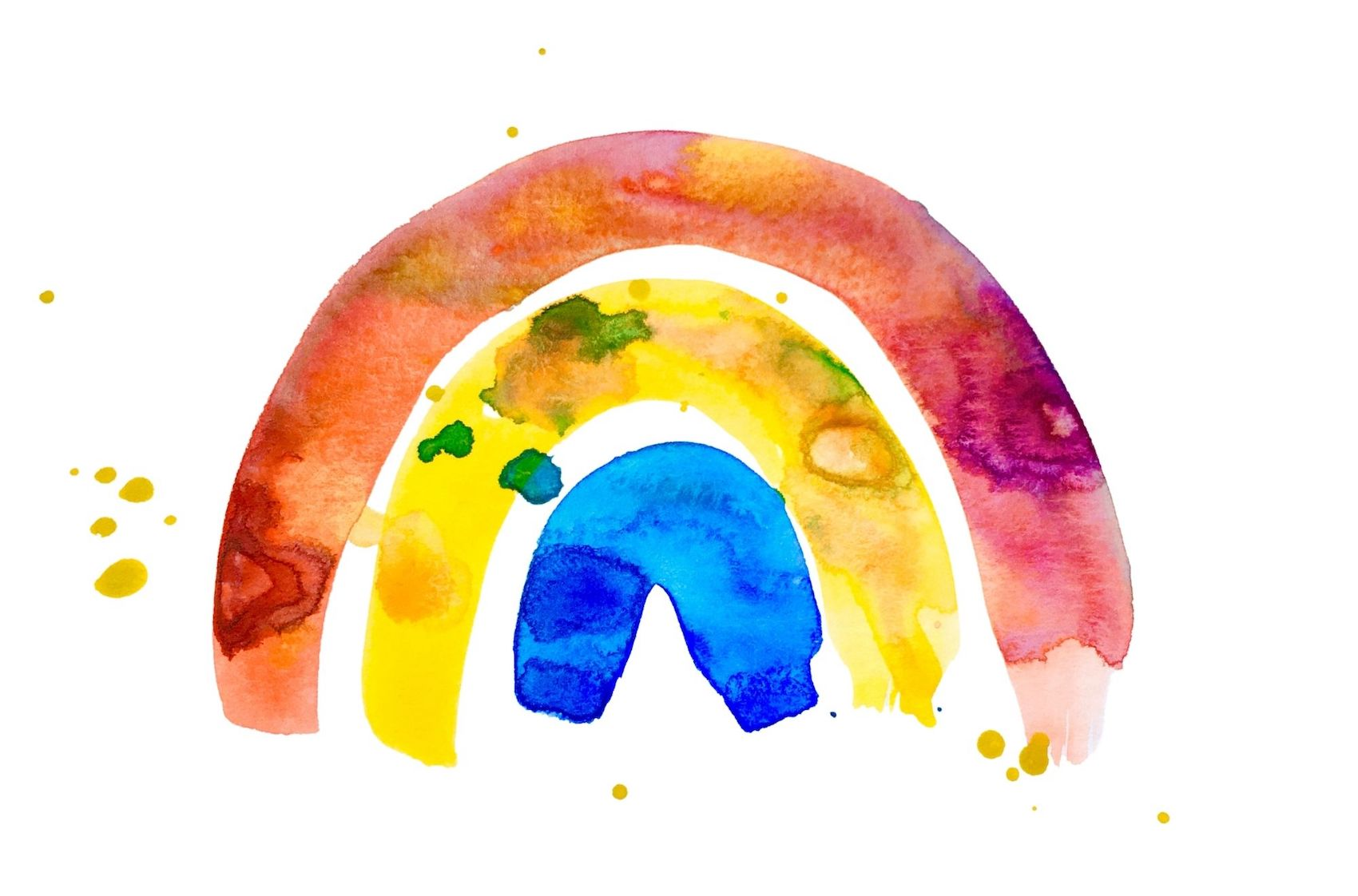 Rainbow watercolour - Rhiannon Adler